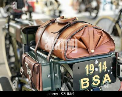 Vintage bike with luggage - Stock Photo