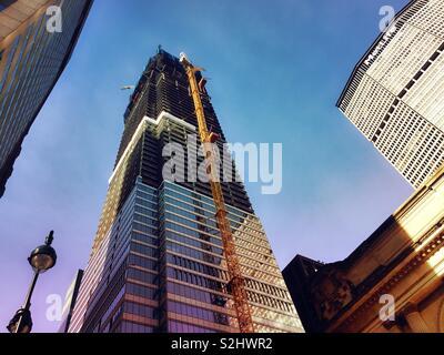 One Vanderbilt skyscraper under construction on 42nd St. in midtown Manhattan, NYC, USA - Stock Photo