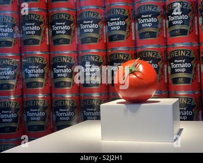 Heinz Soup celebrating 150 years it was first sold at Fortnum & Mason on Piccadilly, London. - Stock Photo