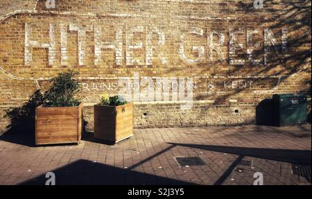 Hither Green Station in Lewisham London, England - Stock Photo