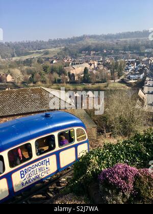 Bridgnorth Castle Hill Funicular Railway- Bridgnorth, Shropshire, England - Stock Photo