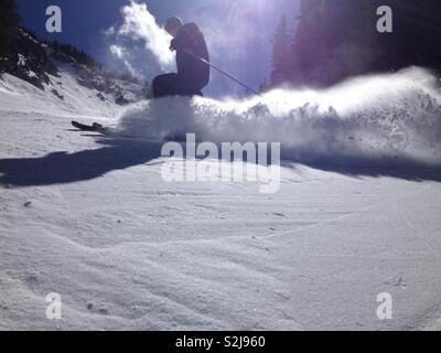 Skiing - Stock Photo