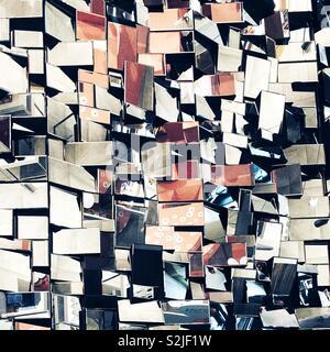 Abstract mirror installation - Stock Photo