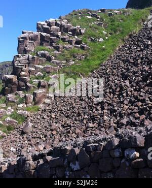 Giant's Causeway Northern Ireland. - Stock Photo