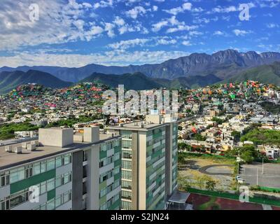 Cityscape of Monterrey, Mexico - Stock Photo