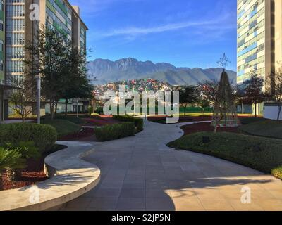 Park in Monterrey, Mexico - Stock Photo