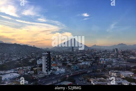 Sunset in Monterrey, Mexico - Stock Photo