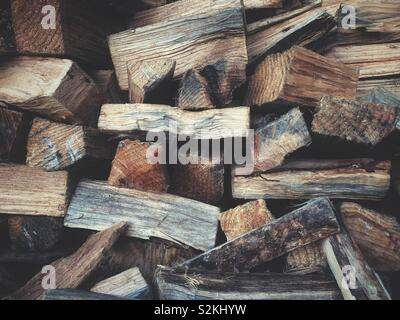 Pieces of firewood somewhere in the forest
