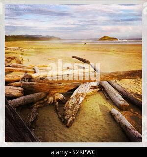 Long Beach, Tofino, British Columbia - Stock Photo