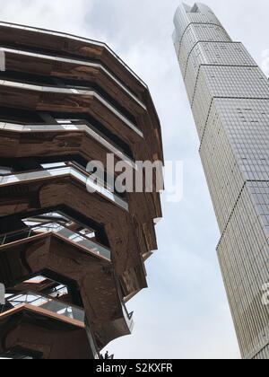 Vessel by Thomas Heatherwick at the Hudson Yards development in New York - Stock Photo