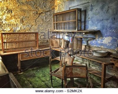 The Abandoned Kitchen at Calke Abbey in Derbyshire - Stock Photo