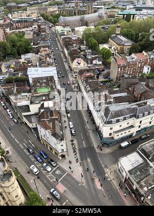 View of Bristol Park Street. - Stock Photo