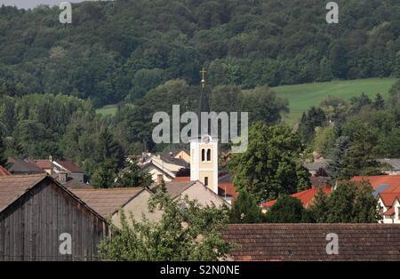 Kirchturm im Weinviertel - Stock Photo
