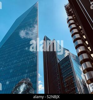 London, UK - 21 May 2019: Skyscrapers in the City of London financial district. - Stock Photo
