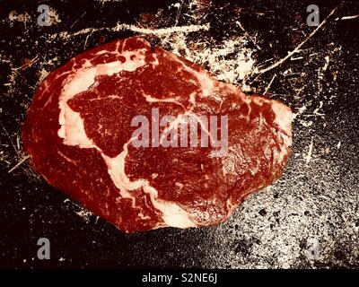 Tasty fresh Ribeye steak - Stock Photo