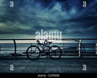 Bike on the beach - Stock Photo