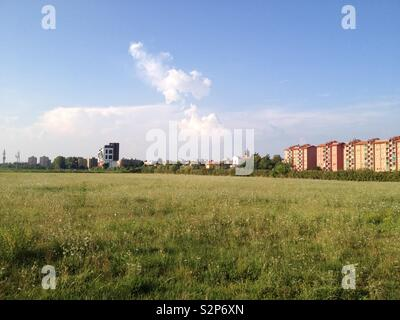 Landscape in Trenno, on the outskirts of Milano, Italy - Stock Photo