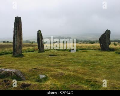 Machrie Moor Stone Circles, Isle of Arran, Scotland. - Stock Photo