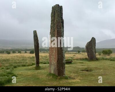 Machrie Moor Stone Circles, Arran, Scotland - Stock Photo
