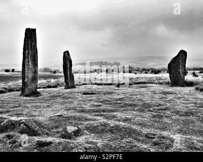 Machrie Moor Stone Circles, Arran. - Stock Photo