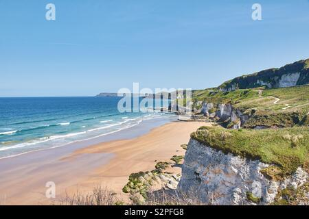 The Whiterocks, near Portrush, in Northern Ireland. - Stock Photo