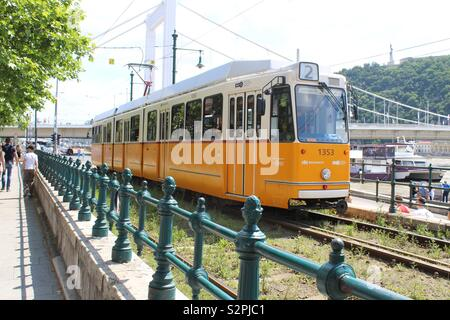 Tram In Budapest - Stock Photo