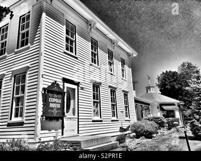 The Cupola House Historic Landmark in Egg Harbor Wisconsin - Stock Photo