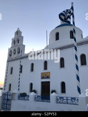 Panagia platsani. Oia. Santorini - Stock Photo