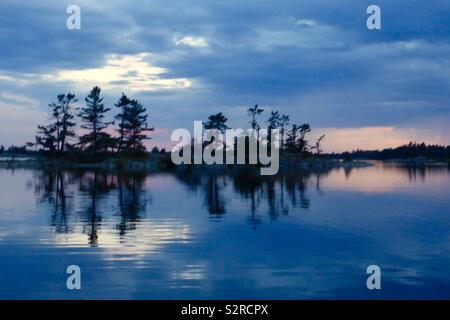 Sunset in Georgian Bay Canada - Stock Photo