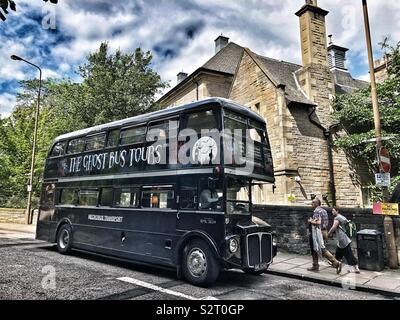 Ghost bus tours - Stock Photo