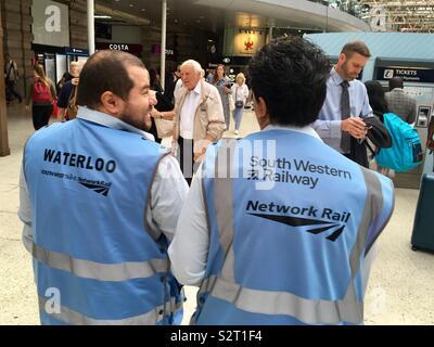 Waterloo - South Western Railway - Stock Photo