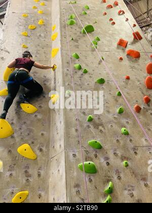 Rock climb to free the mind and body - Stock Photo