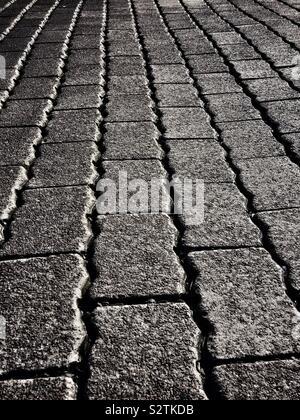 Decorative block paving stones - Stock Photo