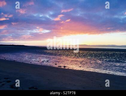 Sunset at Donegal beach in Ireland - Stock Photo
