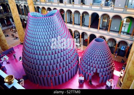 Hive Exhibition in National Building Museum -Washington, DC - Stock Photo