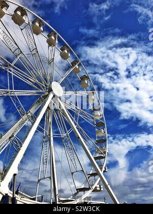 Big Wheel, Barry Island Pleasure Park, South Wales, August 2019 - Stock Photo