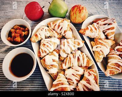 Autumn baking apple turnovers - Stock Photo