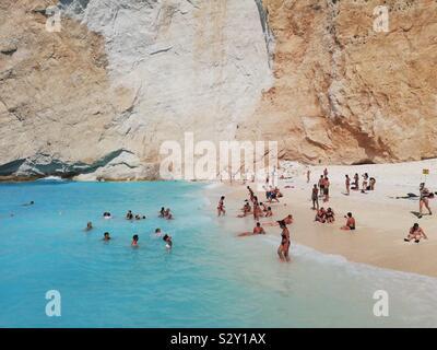 In a Greek island called Zakinthos - Stock Photo