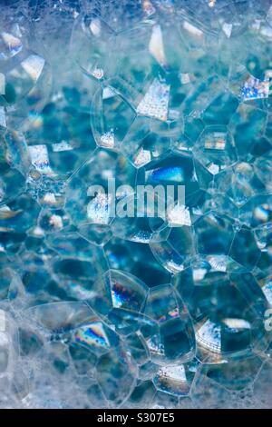 soap bubble, blue abstract background Stock Photo