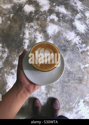 a cup of coffee to start your day - Stock Photo