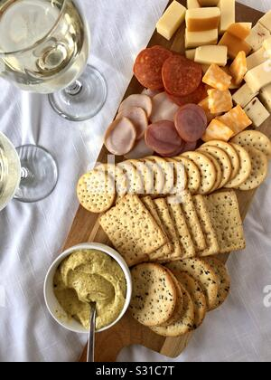 Charcuterie board - Stock Photo
