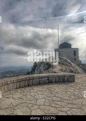 Beautiful Montenegro: Mausoleum, Lovcen mountain. - Stock Photo