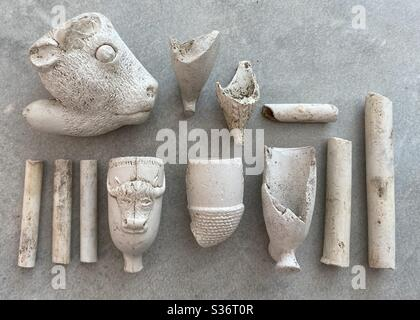 Clay pipe Archaeology Stock Photo