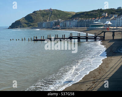 Aberystwyth, West Wales, UK. Wednesday 24th June 2020. Weather: A warm and sunny day in Aberystwyth this morning as temperatures reach 22 degrees. ©️Rose Voon / Alamy Live News - Stock Photo