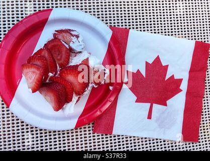 Happy Canada Day. - Stock Photo