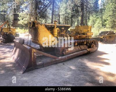Photograph Vintage Logging Caterpillar Tractor Grant County Oregon 1942  8x10