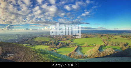 The view from Glastonbury Tor, Somerset