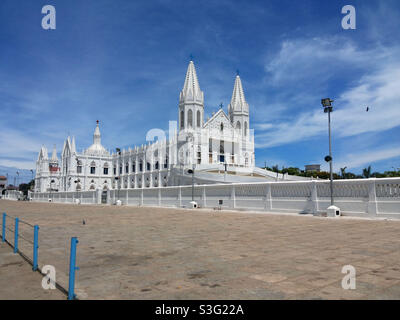 The Basilica of Our Lady of Good Health, also known as Sanctuary of Our Lady of Vailankanni, is a Marian shrine located at the small town of Velankanni in Tamil Nadu, South India