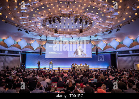 Berlin, Germany. 16th Mar, 2019. Paul Ziemiak, Secretary General of the CDU, speaks at the extraordinary Germany Day of the Young Union. Credit: Michael Kappeler/dpa/Alamy Live News