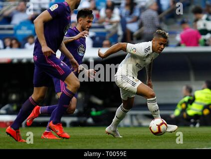 Santiago Bernabeu stadium, Madrid, Spain. 16th March 2019. Soccer match between Real Madrid and Celta of the 2018/2019 Spanish League, held at the Santiago Bernabeu stadium, in Madrid. (Photo: Jose L. Cuesta/261/Cordon Press). Mariano        Cordon Press - Stock Photo